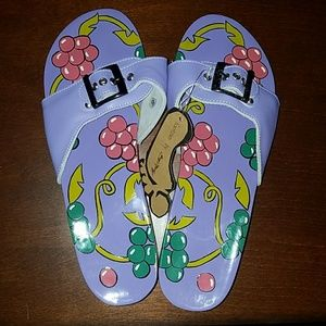 BRAND NEW WITH TAGS handpainted Sandals